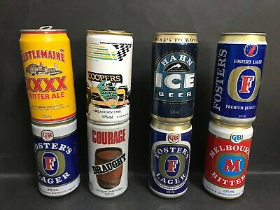 Beer Can Vintage Aluminium Sports Cans Inc: Roy Cazaly, Melb Cup, Horse Racing