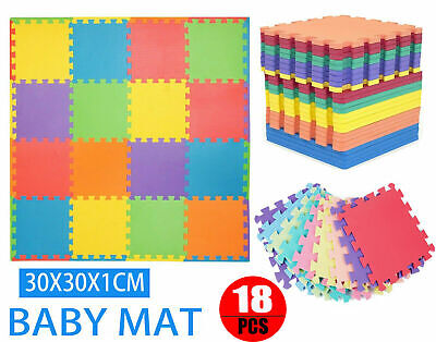 Large Interlocking Eva Foam Mat Soft Floor Tiles Play Kids Baby Mats Gym Home P3