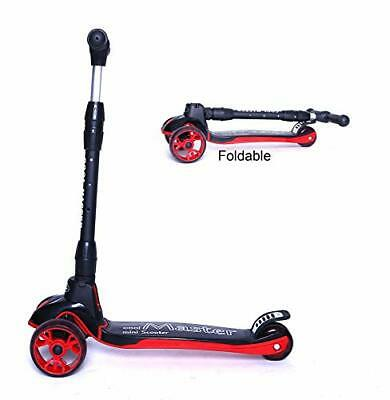 Voyage Sports Kick Scooter,X7, Foldable Handlebar with Light Up (Black Red)