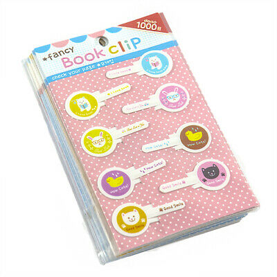 Fancy Book Marker 8pc Clip Style 85704 Wholesale, (12 - Pack)