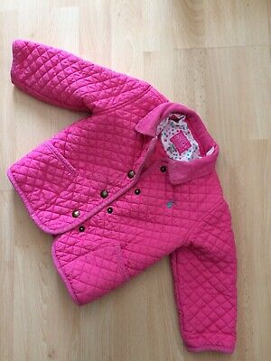 Joules Girls Quilted Pink Jacket Coat Age 11/2 - 2 Years (18-24 Months)