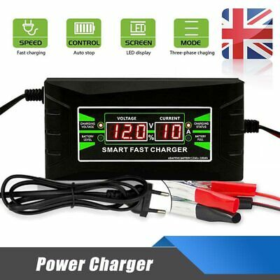 UK 6 Amp Car Battery Charger Intelligent Pulse Repair Jump Starter 12V AGM/GEL
