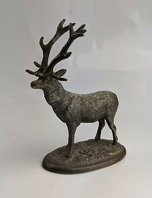 Antique Silver Plate Figure of a Stag Deer fine Quality - Victorian