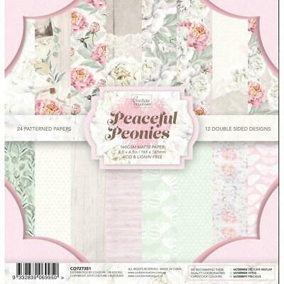 6x6 Couture Creations Peaceful Peonies Collection Paper Pad