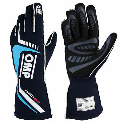 OMP First Evo Race Gloves - FIA 8856-2018 Approved