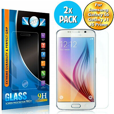 100% Genuine Tempered Glass Screen Protector For Samsung Galaxy S6 / J1