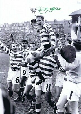CEL 001 - HAND SIGNED 16x12 PHOTO CELTIC 1965 BILLY McNEILL