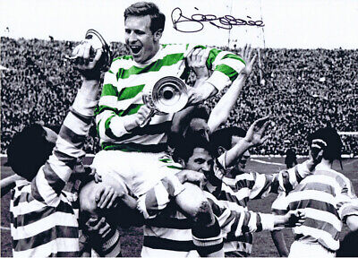 CEL 024 - HAND SIGNED 16x12 PHOTO CELTIC 1965 BILLY McNEILL