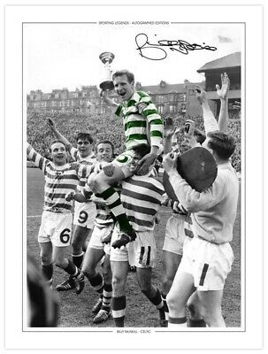 CEL 002 - HAND SIGNED 16x12 PHOTO EDITION CELTIC 1965 BILLY McNEILL