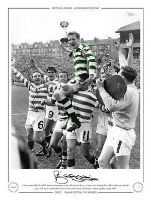 SL416 - HAND SIGNED LIMITED EDITION CELTIC 1965 BILLY McNEILL