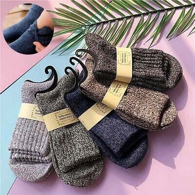 Socks Wool Thick Sports Cashmere 5 Pairs Winter Men Solid Soft Casual New Warm