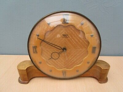 Vintage Wooden Smiths Sectric Mantle Clock - Working - Made In England