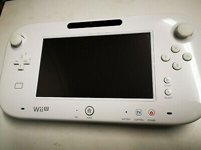 Nintendo Wii U Official Replacement WHITE GAMEPAD Screen Controller with Stylus