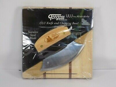 Tongass Trading Co ULU The Alaska Knife and Chopping Bowl New Wood