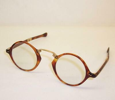 Antique FOLDING GLASSES Spectacles NUOCEE Victorian/Edwardian FAUX TORTOISESHELL