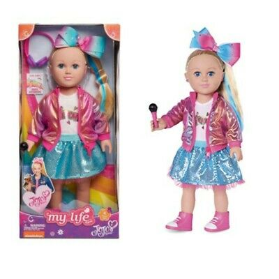 My Life As JoJo Siwa Doll, 18-inch Soft Torso Doll with Blonde Hair, Dance Party