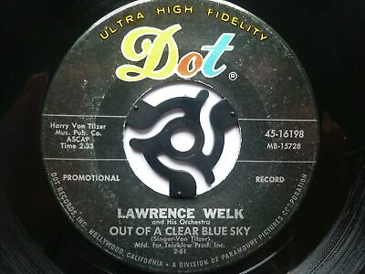 """Lawrence Welk Out Of A Clear Blue Sky 7"""" Dot 4516198 EX 1960s US pressing, there"""