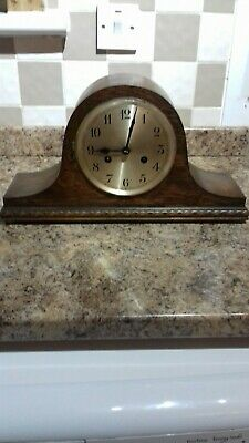 Antique Oak Cased Westminster Chimes Mantle Clock.