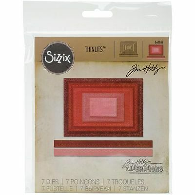 Sizzix Tim Holtz Stitched Rectangles Dies - Thinlits - Nested Frames