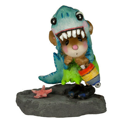 Wee Forest Folk SHARK IN THE DARK, WFF# M-622, Halloween or Beach Mouse