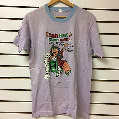 T-Shirt with Vintage Miss Piggy Transfer 80/'s Glitter