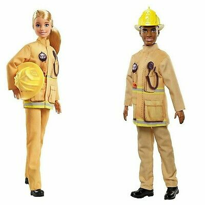 Barbie and Ken Firefighter Dolls Fashionistas Plaid on Point 60th 1959 GFX29