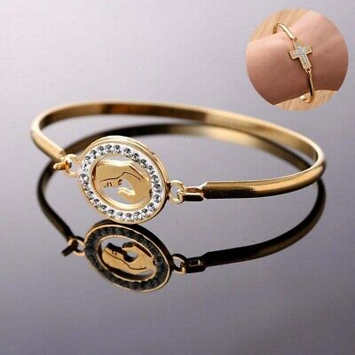 Jewelry Fashion Love Gold Bracelet Stainless Steel Women Family Heart Bangle