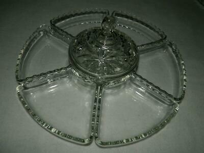 Anchor Hocking Prescut EAPC 6 Inserts + Bowl w Lid for Lazy Susan Relish Plate