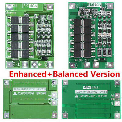 12.6V 18650 Lithium Battery PCB BMS Protection Board 3S 40A Motor For Drill T1A9
