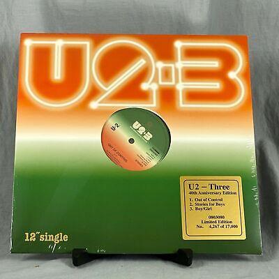 "U2 Three 12"" Out Of Control Stories For Boys Girl Black Friday RSD 40th Anniv"