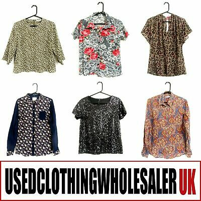 50 Women's Grade A Mixed Tops Blouses Used Clothes Wholesale Job Lot Second Hand