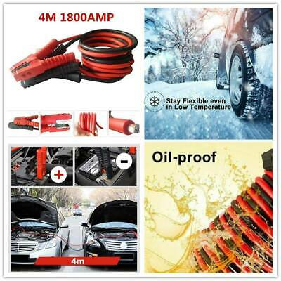 4M 1800AMP Heavy Duty Car Van Starter Booster Cables Battery Start Jump Leads