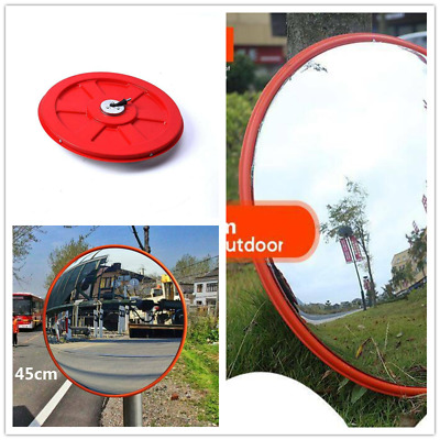 45cm Wide Angle Mirror Security Curved Convex Road Traffic Driveway
