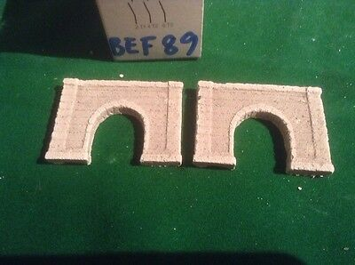 2x single tunnel  - Z scale gauge- painted and weathered- ..concrete Type Nice