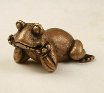 Unique China Bronze Statue Frog Model Home Decoration Gift Old Collec