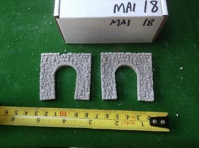 2x single tunnel  - Z scale  Taller Type..painted. Grey Rustic Stone Style