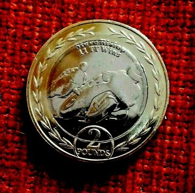 2019 Isle of Man STEVE HISLOP £2 Pound Coin uncirculated