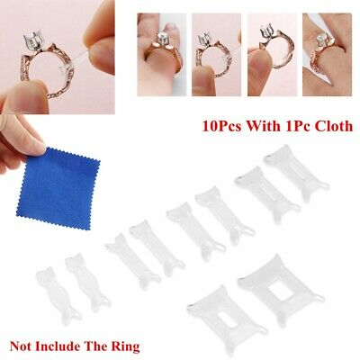Tighteners Jewelry Ring Size Adjuster Set Resizing Tools Reducer Adjuster Pad