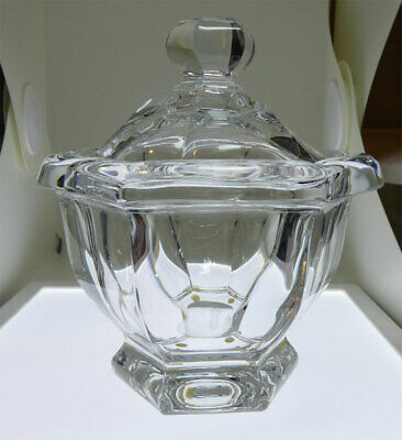 Signed Baccarat Crystal Covered Clear Dish - Candy Nuts Sauces Sugar