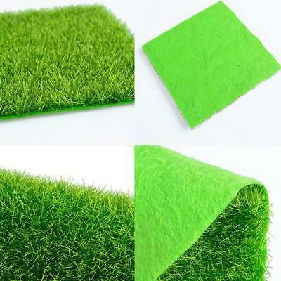 Plastic Square Artificial Grass Mat Thick Greengrocer Fake Turf Astro Lawn GD