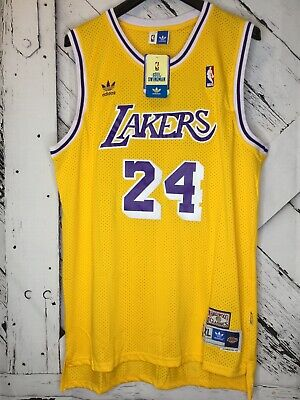 Kobe Bryant LA Lakers Hardwood Classics #24 Men's Swingman Jersey Gold - XXL