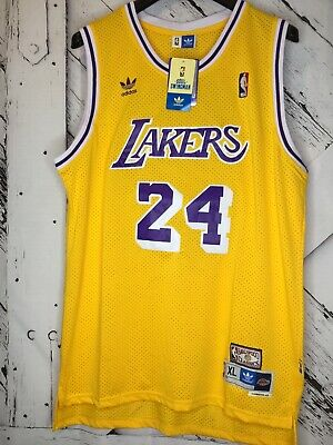 Kobe Bryant LA Lakers Hardwood Classics #24 Men's Swingman Jersey Gold - XL
