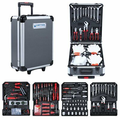 Tool Trolley Set Compact 944PCS Mobile Workshop Toolbox With Carry Boxqu7