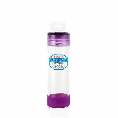 full circle Hydrate Mate 16 oz. Glass Bottle - Elderberry