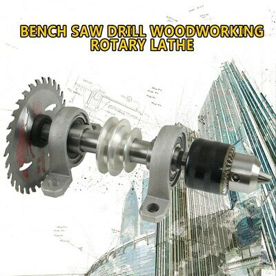 Bearing Seat Pulley Bench Saw Drill Woodworking Rotary Lathe DIY Spindle Chuck