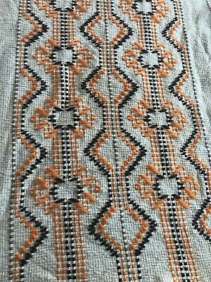 Vintage Wall Tapestry Woven Boho Hanging  Hippie Yarn Cotton Orange Table Runner