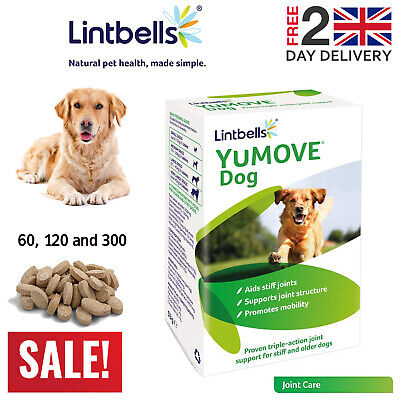 Lintbells YuMOVE Dog Joint Supplement for Stiff and Older Dogs 60/120/300 Tabs