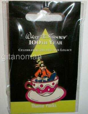 JDS Walt Disney 100th Year Theme Parks #7 Alice Mad Tea Party Cups Goofy LE Pin