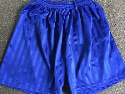 "Girls Royal Blue Sports Shorts Size 30/32"" Waist"