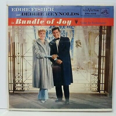 "Eddie Fisher Bundle Of Joy ep w/ hard cover sleeve 45rpm 7"" Vinyl Record 45"